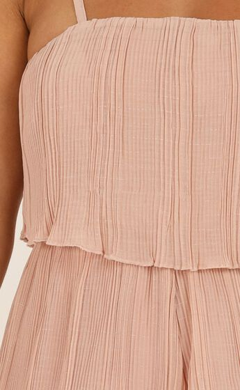 Got The Love For You Playsuit In Blush Pleat