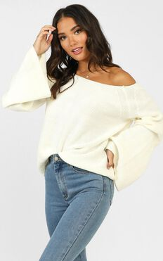 No Slouching Knit In Cream