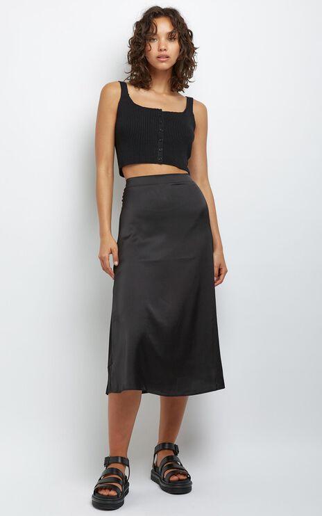 Amrita Midi Skirt in Black