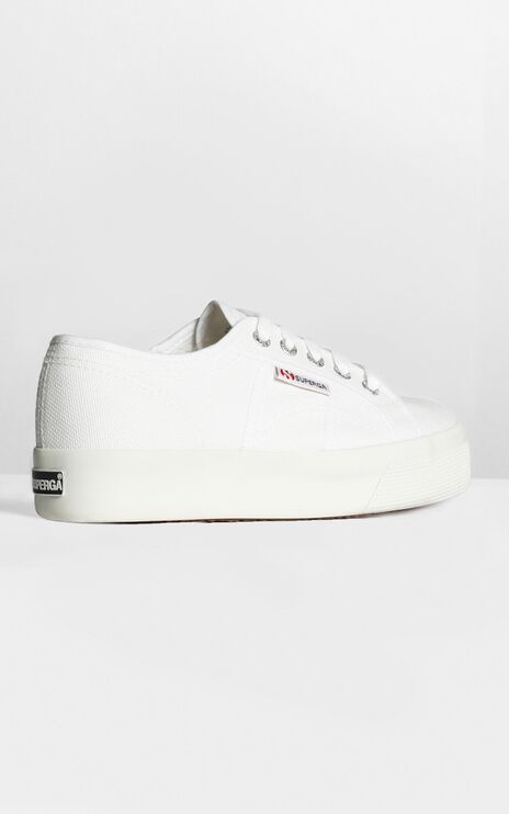 Superga- 2730 Cotu Sneakers In White Canvas