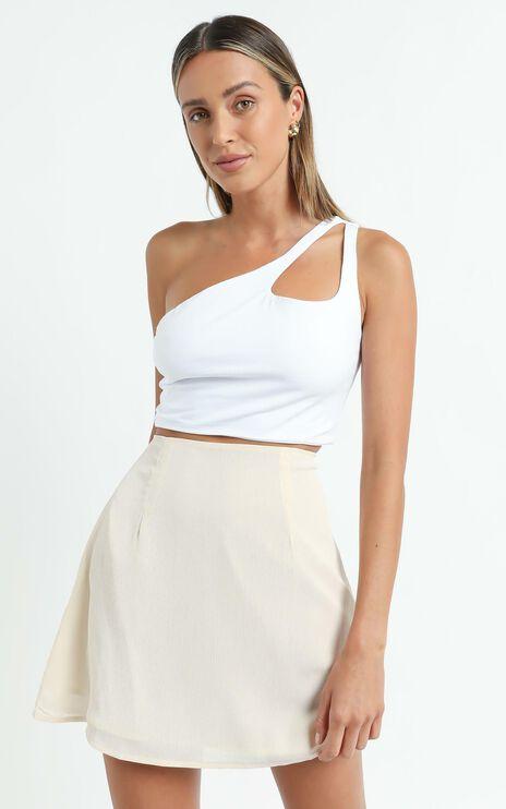 Only Offer Skirt in Cream