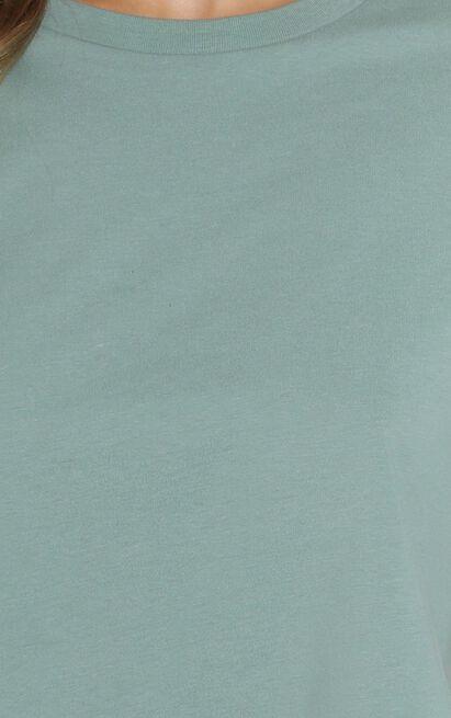 AS Colour - Crop Tee in Sage - 6 (XS), Sage, hi-res image number null
