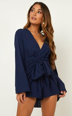 Holiday Romance Playsuit In Navy