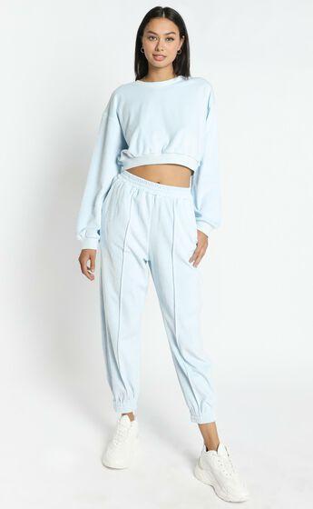 Merrick Sweat Pants in Pastel Blue