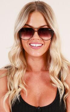 Quay - High Key Mini Sunglasses In Black Fade