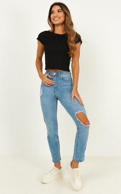 Bobbi Jeans in blue wash denim - 14 (XL), Blue, hi-res image number null