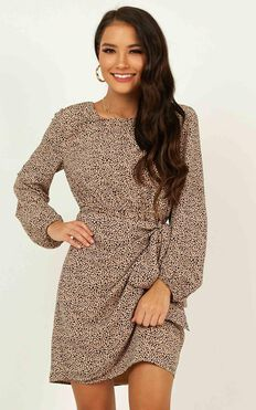 One Last Chance Dress In Animal Print