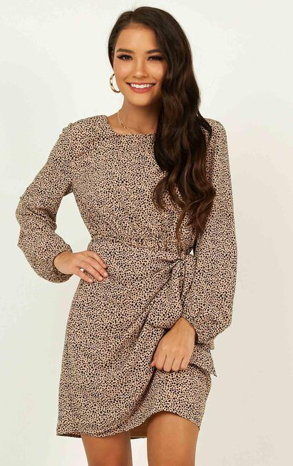 One Last Chance Dress in animal print - 14 (XL), Grey, hi-res image number null