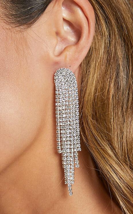 Cross My Heart Earrings in Silver