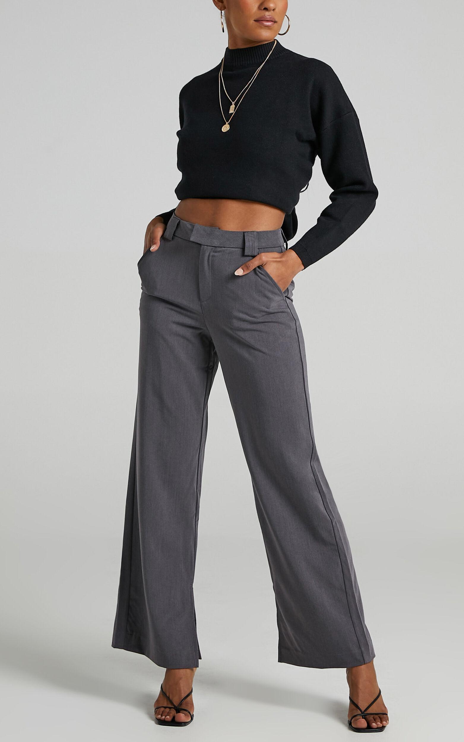 Sabra Pants in Charcoal Grey - 04, GRY1, super-hi-res image number null