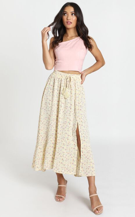 Do This Now Skirt In Yellow Floral