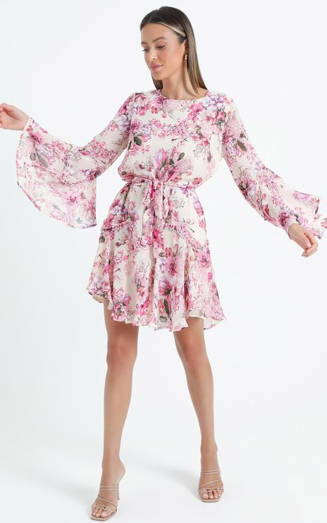 So Whats Next Dress in Pink Floral
