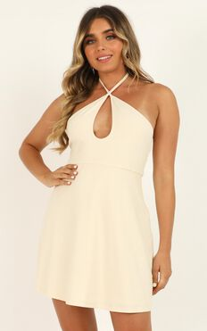 Mostly Together Dress In Cream