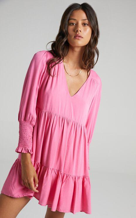 Dilys Dress in Bubblegum Pink