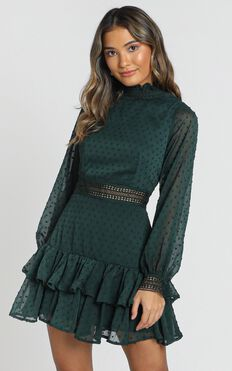 Are You Gonna Kiss Me Dress In Emerald