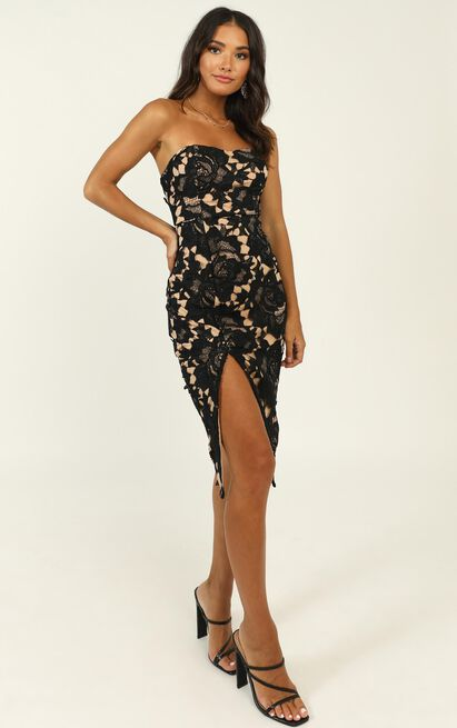 Lace To Lace Dress in black lace - 20 (XXXXL), Black, hi-res image number null