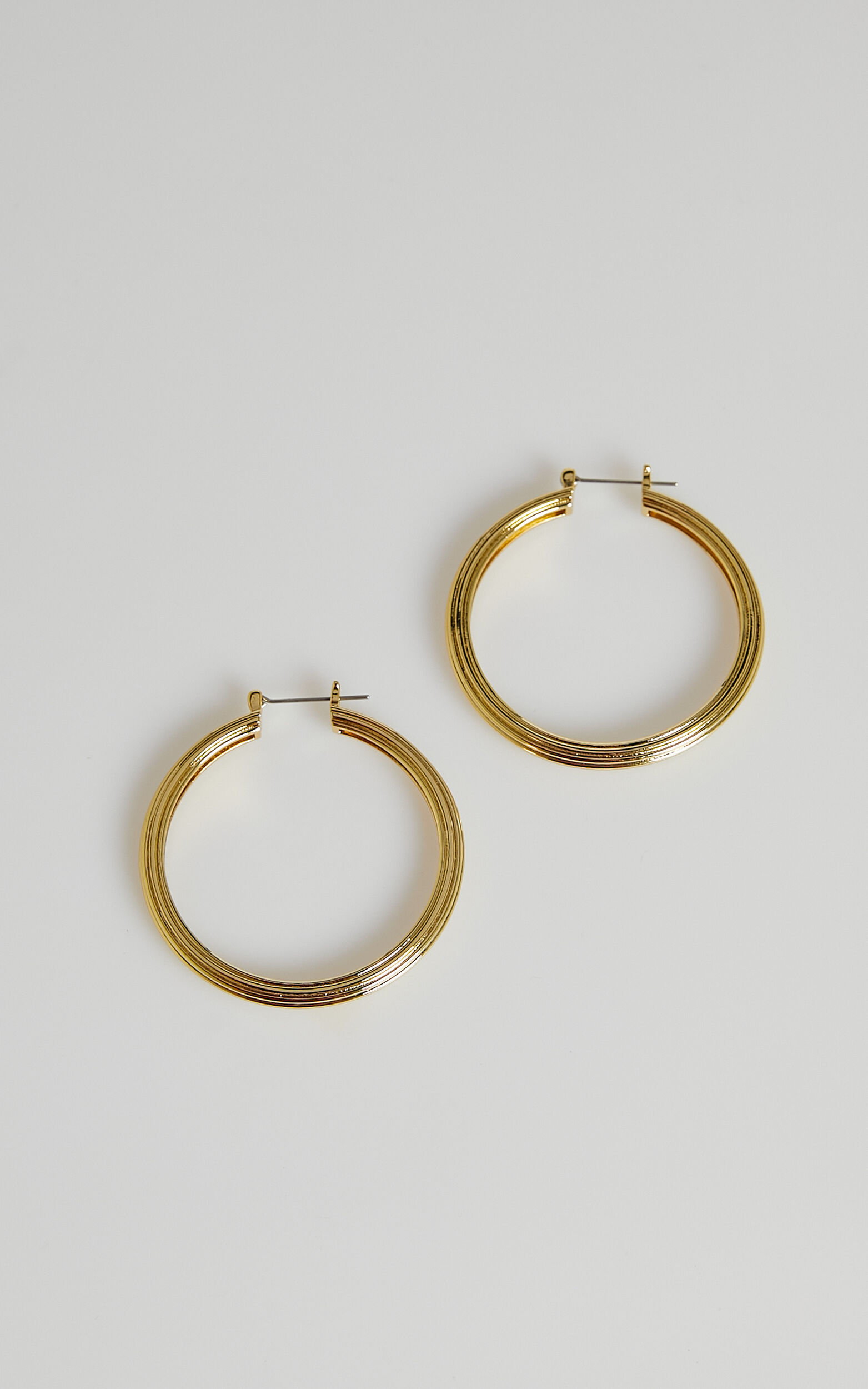Luv AJ - XL Cher Hoops in Gold - OneSize, GLD1, super-hi-res image number null