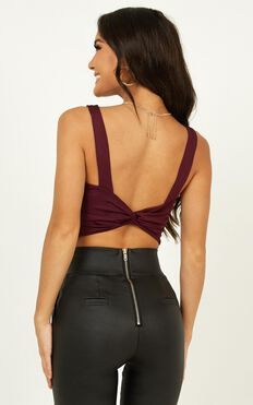 Fall Leaves Top In Plum