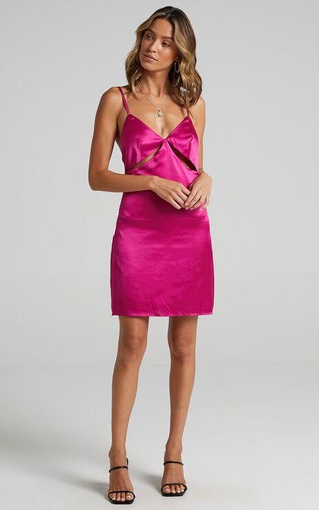 Puglia Dress in Pink Satin