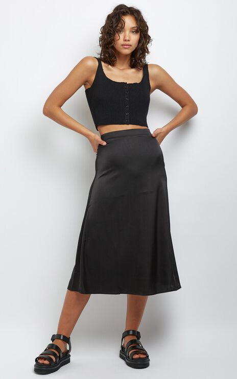 Amrita Midi Skirt in Black