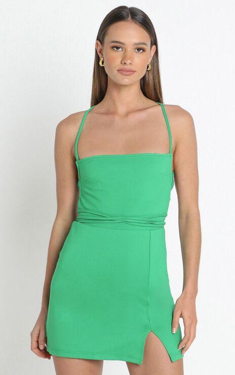 Tamara Strappy Back Mini Dress in Green