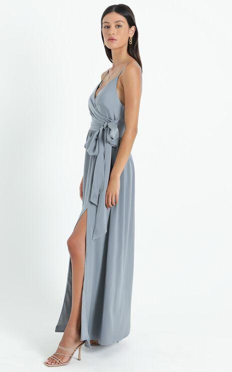Revolve Around Me Dress In Dusty Blue
