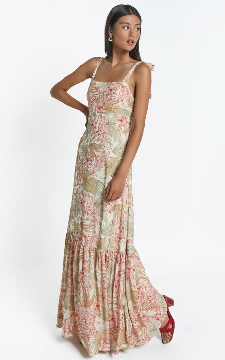 Honor Dress in Palm Print