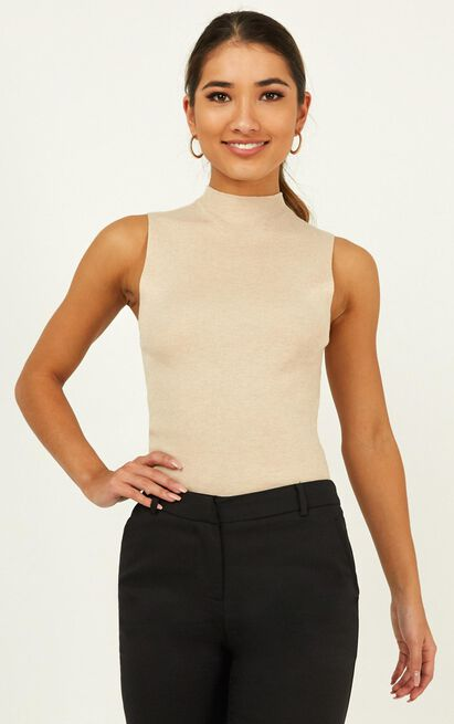 Time Will Tell Knit Top in beige - 20 (XXXXL), Beige, hi-res image number null