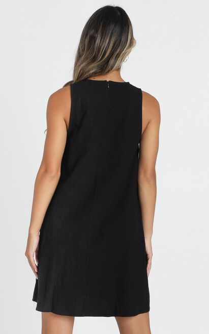 Karla Ruffle Detail Smock Dress in black - 14 (XL), Black, hi-res image number null