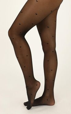Deal With It Stockings In Black Print