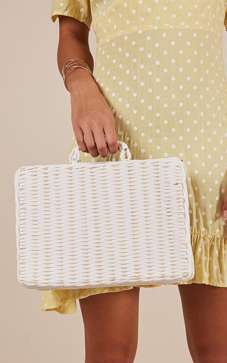 Lets Catchup Bag In White