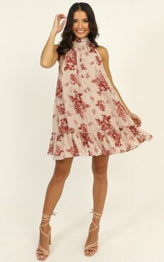 Arlo Dress In Pink Floral
