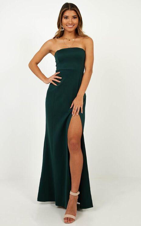 Look Sharp Dress In Emerald