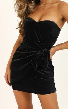 In The Fire Dress In Black Velvet