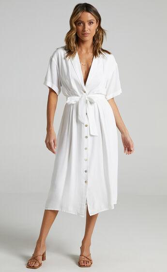 Sallie Dress in White