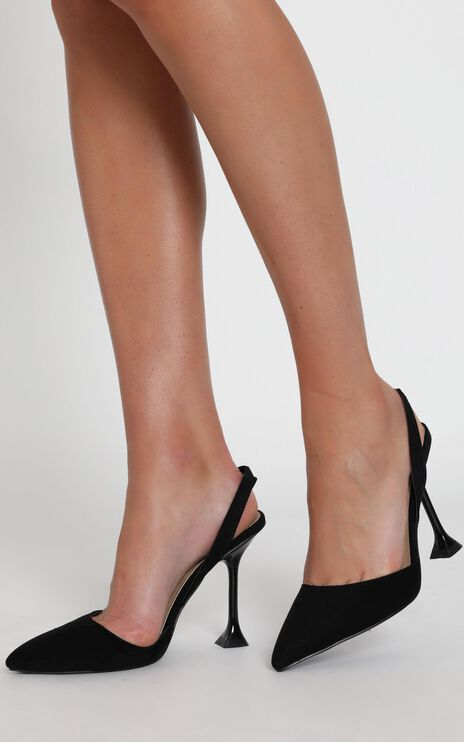Billini - Valentine Heels In Black Micro
