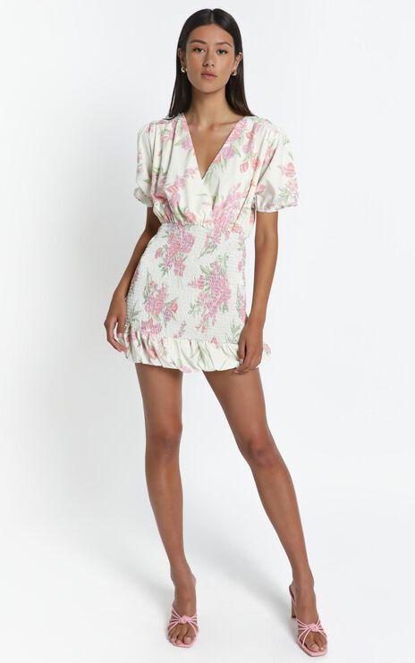 Libra Dress in Cream Floral