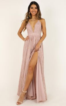 See Some Places Dress In Blush Lace