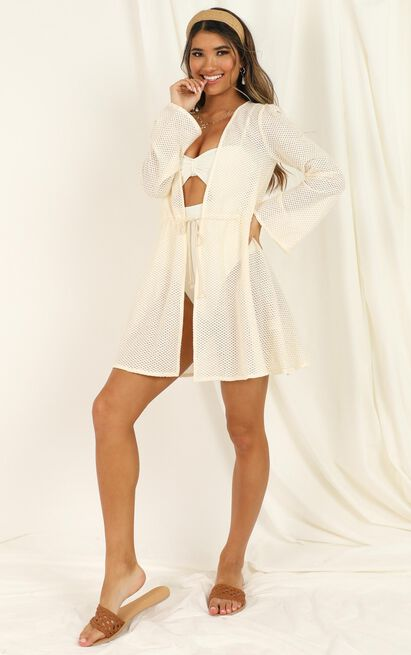 Guest Appearance Kimono in cream - 20 (XXXXL), Cream, hi-res image number null