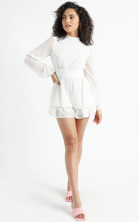Bottom Of Your Heart Playsuit In White