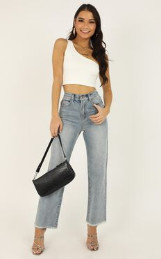 Priscilla Jeans In Light Wash Denim