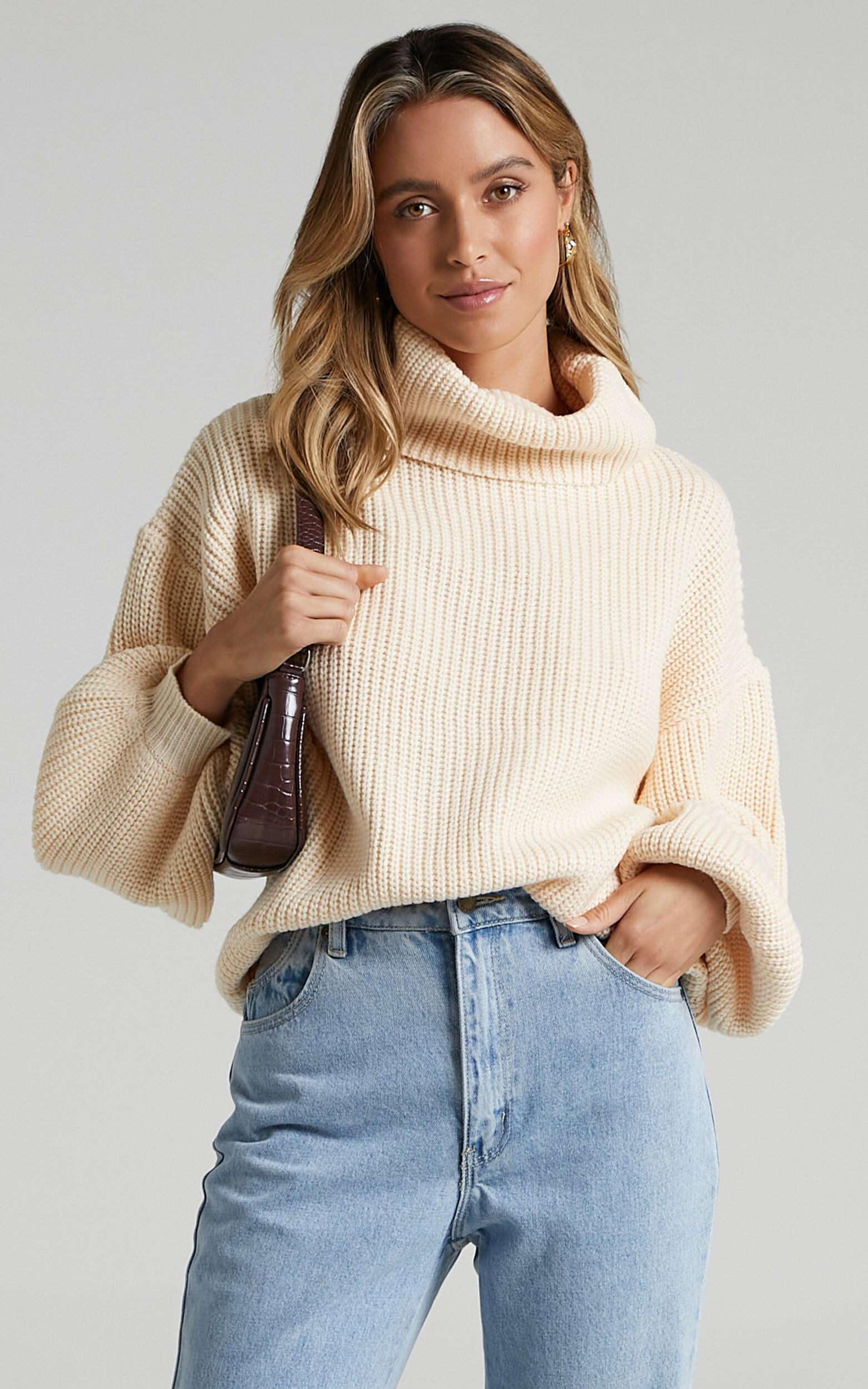 Steam Ahead Knit Jumper in Cream - 20, CRE1, super-hi-res image number null