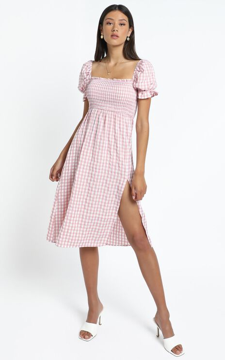 Lowe Dress in Pink Check