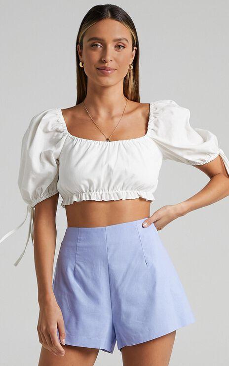 Melisandre Shorts in Periwinkle Blue