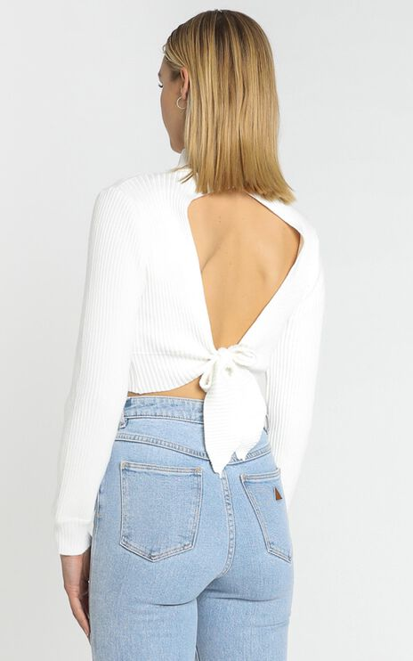 Alika Knit Top in White