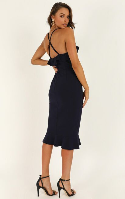 Rose And Petal Dress in navy - 20 (XXXXL), Navy, hi-res image number null