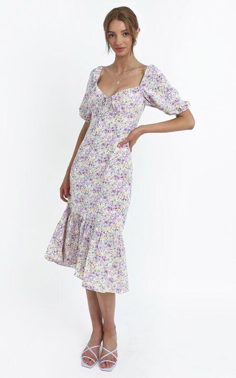Kiko Dress in Purple Floral