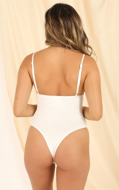 Lets Get Physical Bodysuit in white - 20 (XXXXL), White, hi-res image number null