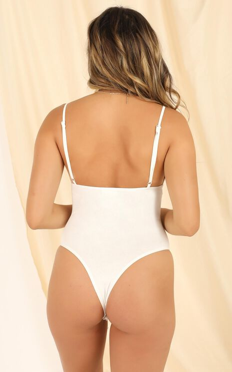 Lets Get Physical Bodysuit In White