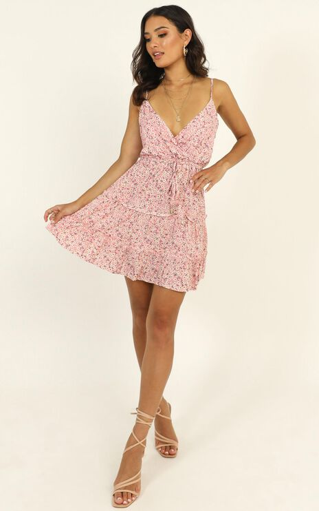 Smell The Lavender Dress In Pink Floral